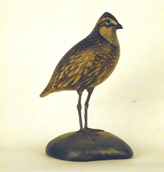 antique quail decoy